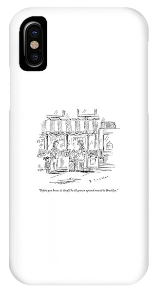 An Older Woman Talks To A Middle Aged Woman IPhone Case