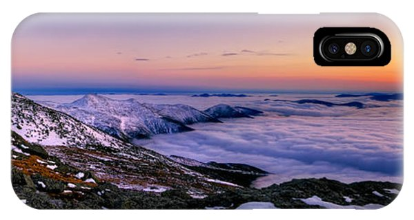 An Undercast Sunset Panorama IPhone Case
