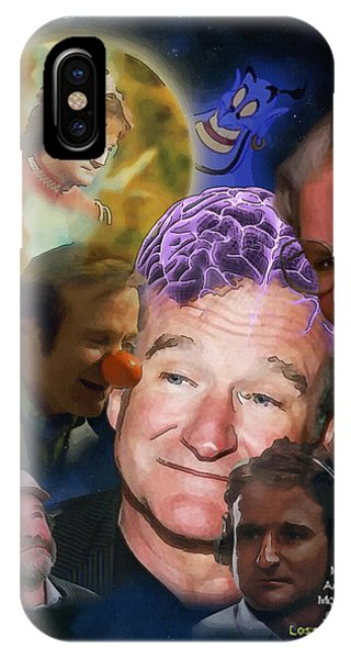 Robin Williams Comedian iPhone Case - Analysis Of Robin's Head by Joseph Juvenal
