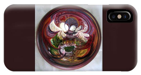 Anamorphic Chinese Pagoda IPhone Case