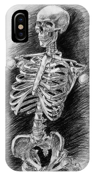 Bone iPhone Case - Anatomy Study Mister Skeleton by Irina Sztukowski