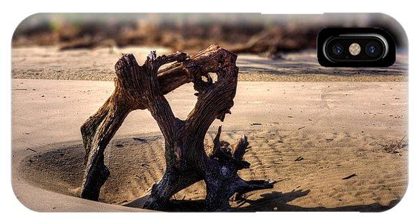 Anchor Driftwood On Jekyll Island IPhone Case