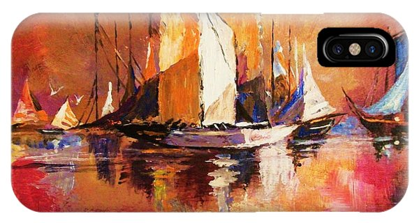 Anchored At Sunset IPhone Case