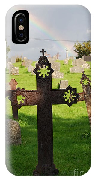 Ancient Cross Rainbow Blessing IPhone Case