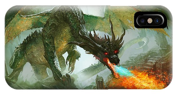 Fantasy iPhone X Case - Ancient Dragon by Ryan Barger