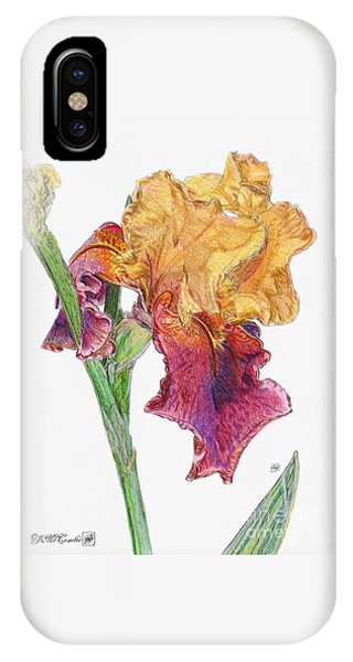Close Up Floral iPhone Case - Ancient Echoes by J McCombie
