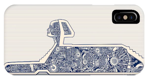 Egyptian iPhone X Case - Ancient Egypt Sphinx And Science by Ryger