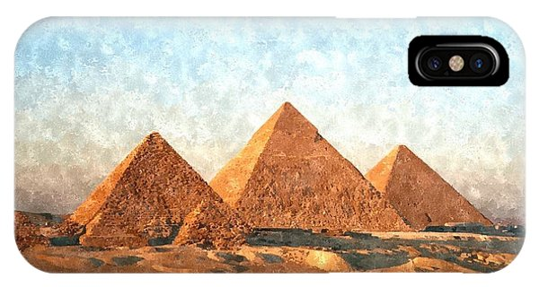 Pharaoh iPhone Case - Ancient Egypt The Pyramids At Giza by Gianfranco Weiss