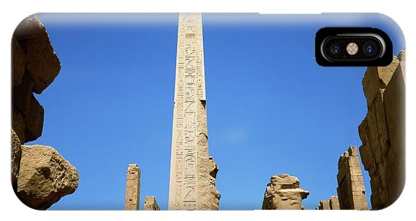 Ancient Egyptian Obelisk At Karnak Phone Case by Robert Brook/science Photo Library