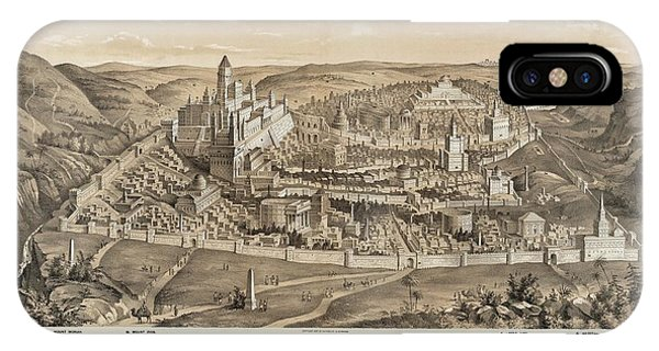 Ancient Jerusalem Phone Case by Library Of Congress/science Photo Library