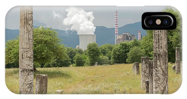Ancient Megalopolis And Coal Powerplant. Phone Case by David Parker/science Photo Library