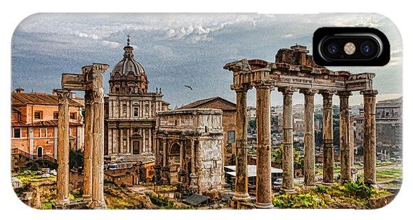 Ancient Roman Forum Ruins - Impressions Of Rome IPhone Case