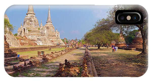 Ancient Ruins Of A Temple, Wat Phra Si IPhone Case