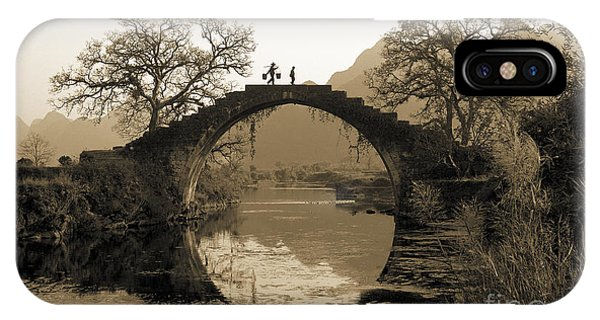 Road iPhone Case - Ancient Stone Bridge by King Wu