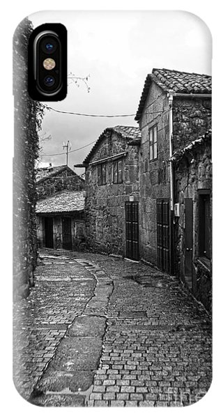 Ancient Street In Tui Bw IPhone Case