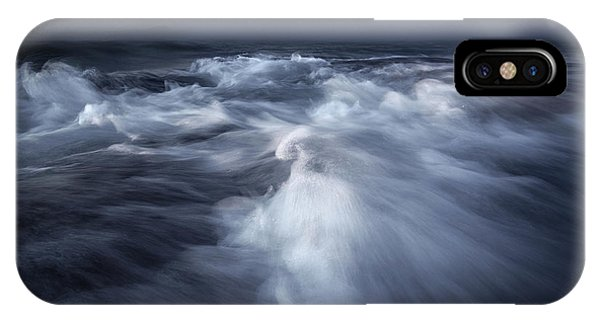 Flow iPhone Case - Ancient Waves by Luca Rebustini