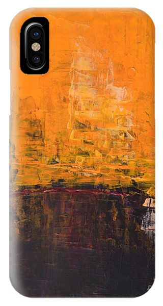 Ancient Wisdom Orange Brown Abstract By Chakramoon Phone Case by Belinda Capol