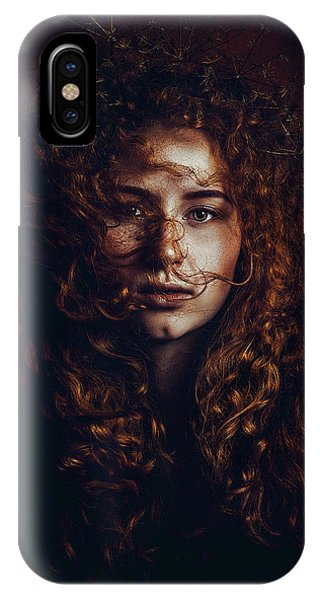 Hair iPhone Case - And God Said, Let There Be Redheads by Ruslan Bolgov (axe)