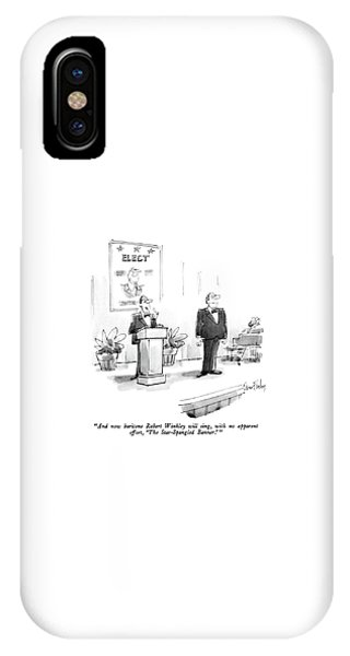 And Now Baritone Robert Winkley Will Sing IPhone Case