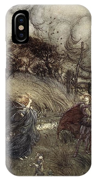1 iPhone Case - And Now They Never Meet In Grove Or by Arthur Rackham