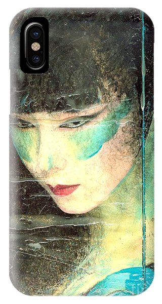 And She Waits Phone Case by Barbara Lemley