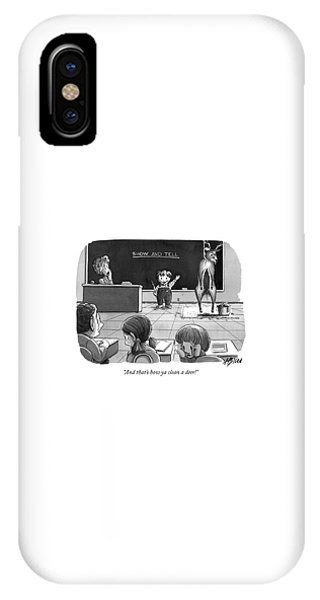 Carcass iPhone Case - And That's How Ya Clean A Deer! by Harry Bliss