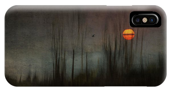 Orange Sunset iPhone Case - ...and The Moon Stood Still For The Night Bird's Song... by Charlaine Gerber