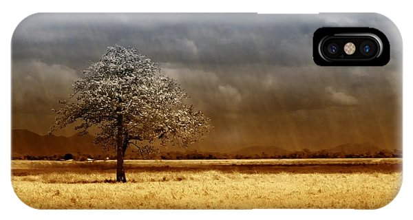 Dust iPhone Case - And The Rains Came by Holly Kempe