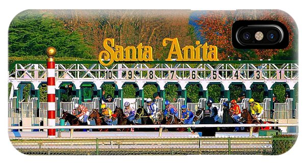 And They're Off At Santa Anita IPhone Case
