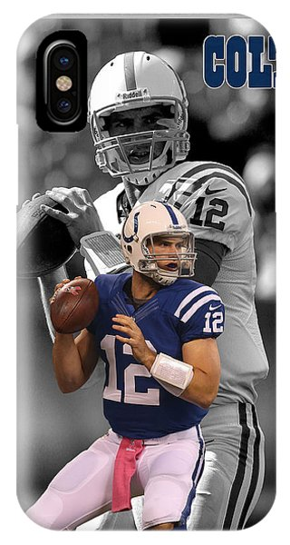 Andrew iPhone Case - Andrew Luck Colts by Joe Hamilton