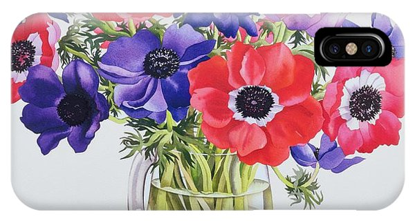 Representation iPhone Case - Anemones In A Glass Jug by Christopher Ryland