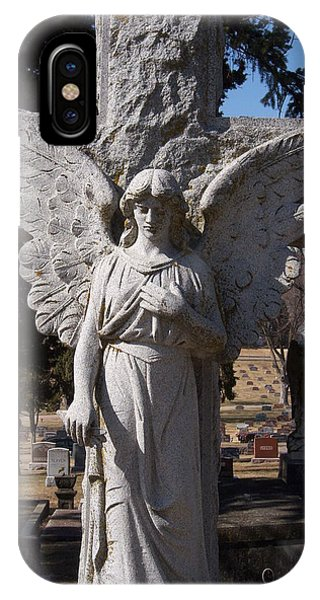 Angel And Cross IPhone Case