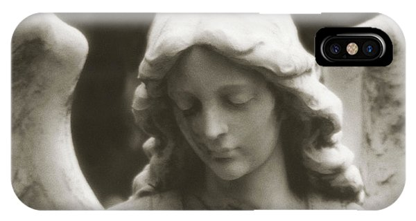 Angel Art - Ethereal Dreamy Angel Guardian Angel - Face Of An Angel IPhone Case