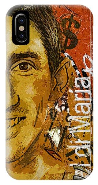 Borussia Dortmund iPhone Case - Angel Di Maria - B by Corporate Art Task Force