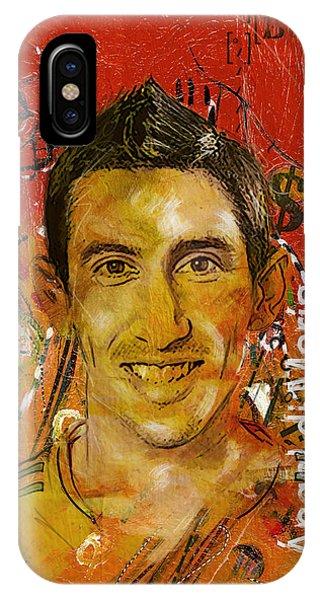 Borussia Dortmund iPhone Case - Angel Di Maria by Corporate Art Task Force