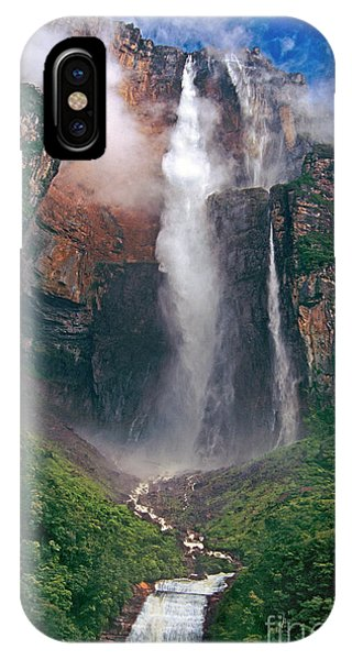 IPhone Case featuring the photograph Angel Falls In Venezuela by Dave Welling