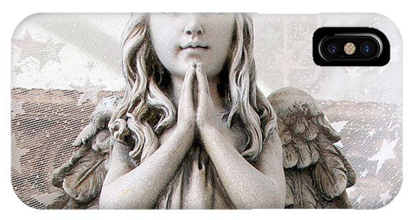 Angel Girl Praying - Christian Angel Art - Little Girl Praying Angel Art - God Answers Prayers IPhone Case