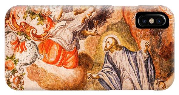 New Testament iPhone Case - Angel Jesus Fresco, Sanctuary Of Jesus by William Perry