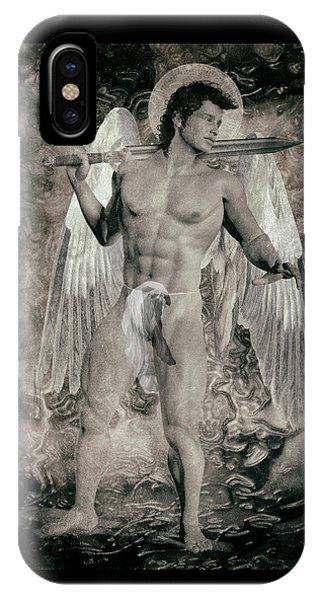 Arte iPhone Case - Angel Mercenary  by Quim Abella
