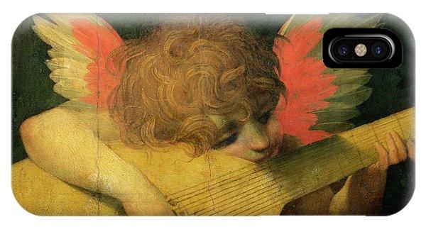 Strum iPhone Case - Angel Musician by Giovanni Battista Rosso Fiorentino
