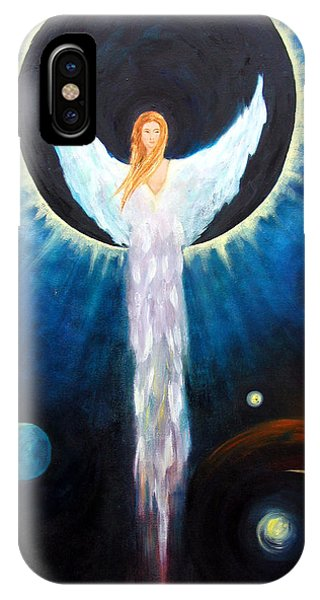 Angel Of The Eclipse IPhone Case