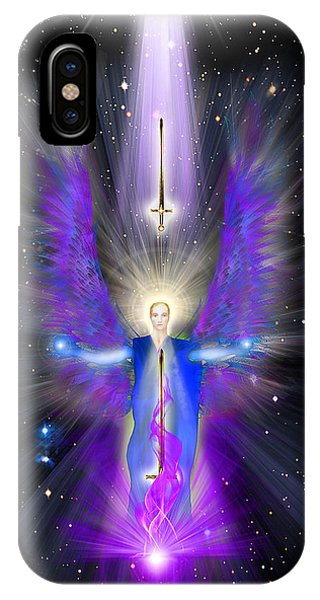 Angel Of The Violet Flame IPhone Case