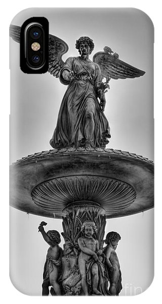 Angel Of The Waters Fountain - Bethesda Iv Phone Case by Lee Dos Santos