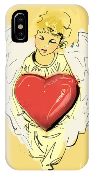 Angel Red Heart IPhone Case