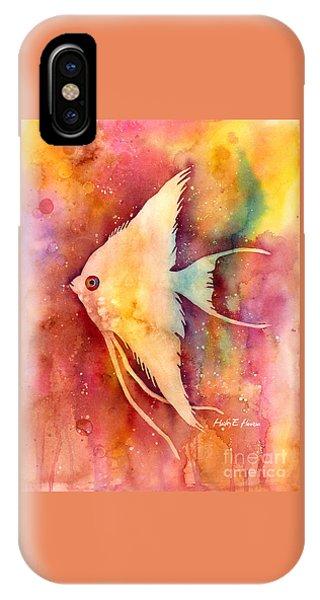 Fish iPhone Case - Angelfish II by Hailey E Herrera