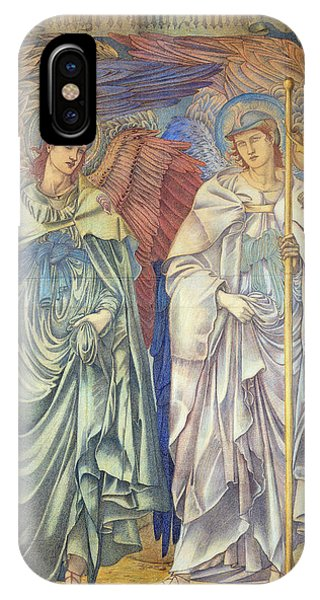 Staff iPhone Case - Angeli Ministrantes by Sir Edward Coley Burne-Jones