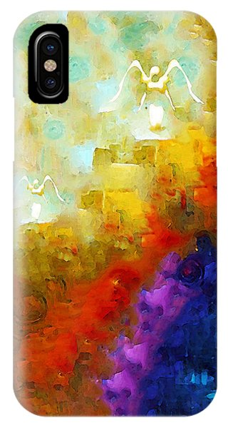 Primary Colors iPhone Case - Angels Among Us - Emotive Spiritual Healing Art by Sharon Cummings