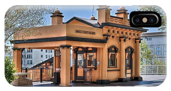 Angels Flight Landmark Funicular Railway Bunker Hill IPhone Case