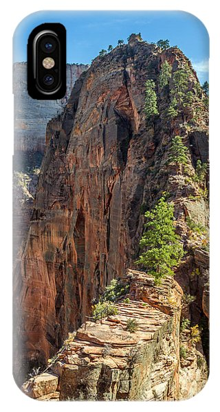 IPhone Case featuring the photograph Angels Landing In Zion by Pierre Leclerc Photography