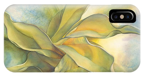 Yellow Trumpet iPhone Case - Angel's Pirouette by Sandy Haight